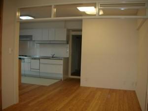 改修後の床、壁、天井